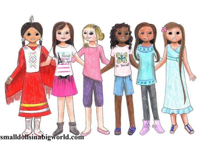 my new doll drawing! | small dolls in a big world - American Girl Coloring Pages Grace